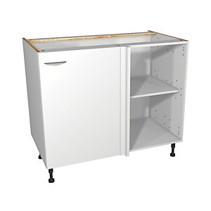 Dakota Matt White Kitchen Corner Base Unit 1000mm