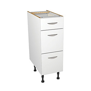 Dakota Matt White Kitchen Drawer Unit 300mm