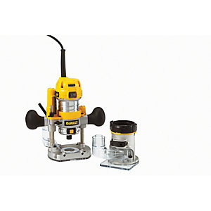 DeWalt 1/4in Combination Plunge & Fixedbase Router 230V