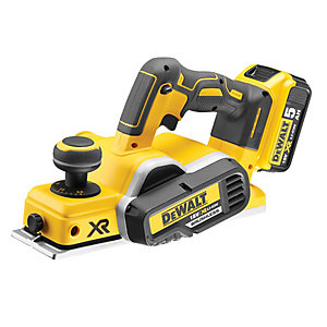 DeWalt 18V Cordless 82mm Brushless Planer 2 X 5.0Ah Li-Ion Batteries DCP580P2-GB