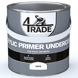 4Trade Acrylic Undercoat Primer Paint White 2.5L