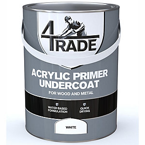 4Trade Acrylic Undercoat Primer Paint White 5L