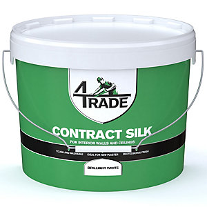 4Trade Contract Silk Emulsion Paint Brilliant White - 10L