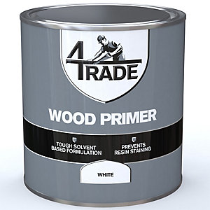 4Trade Wood Primer Paint White 1L