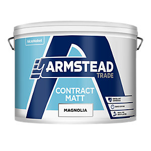 Armstead Trade Contract Matt Quick Drying Paint Magnolia 10L