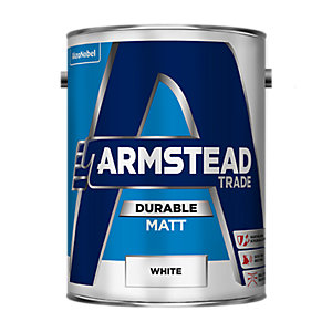 Armstead Trade Durable Matt Paint White 5L
