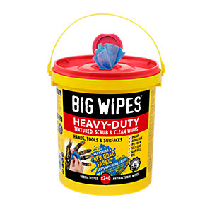 Big Wipes 4x4 Heavy Duty Wipes Mega Tub 240 Wipes