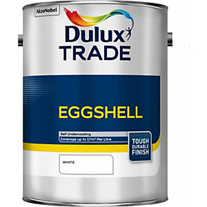 Dulux Trade Eggshell Paint White 5L 5184006