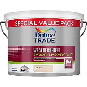 Dulux Trade Smooth Weathershield Masonry Paint Magnolia 7.5L