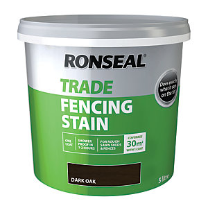 Ronseal Trade Fencing Stain Dark Oak 5L