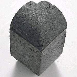 Marshalls Driveline 4 In 1 Return Kerb 100mm x 100mm x 200mm Charcoal