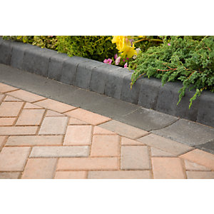 Marshalls Keykerb Large Charcoal 200mm x 100mm x 127mm