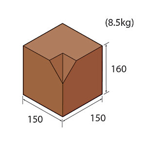 Marshalls Keykerb Medium Splay Internal Brindle 90 degree angle PV7851750