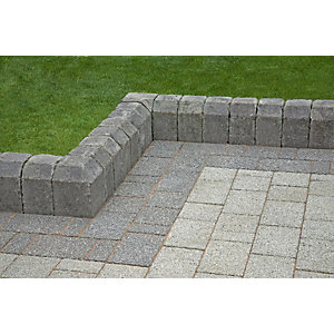 Tegula Kerb Edging - 96mm x 130mm x 160mm x 250mm Radial Int Pennant Grey