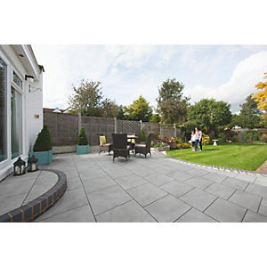 Arrento Vitrified Paving Slab - 595mm x 595mm x 20mm Silver