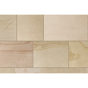 Marshalls Fairstone Sawn Versuro Linear Garden Paving Project Pack Autumn Bronze Multi 11.3m²