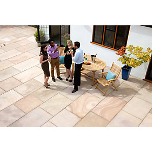 Marshalls Fairstone Sawn Versuro Paving Golden Sand Multi Project 11.3m2