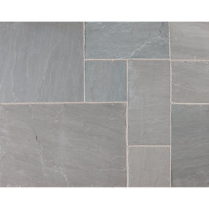 Marshalls Riven Fairstone Natural Sandstone Silver Birch Multi Paving Slab 560mm x 417mm x 22mm