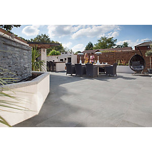 Marshalls Symphony Vitrified Paving Project Pack Beta Grey - 16.16m2