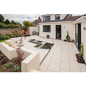 Marshalls Symphony Vitrified Paving Project Pack Delta Barley - 16.16m2