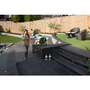 Marshalls Symphony Vitrified Paving Project Pack Delta Dark - 16.16m2