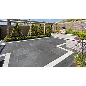 Marshalls Symphony Vitrified Paving - Project Pack Sigma Blue 16.89m2