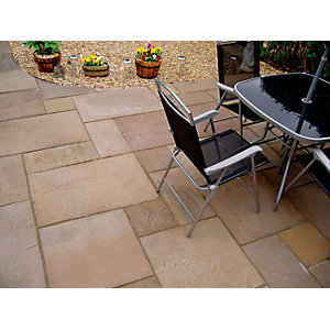 Natural Paving Indian Sandstone Brown Project Pack 15.8m²