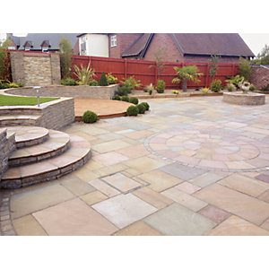 Natural Paving Indian Sandstone Buff Project Pack 15.8m²