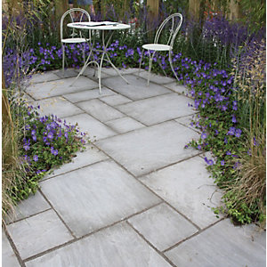 Natural Paving Indian Sandstone Grey Project Pack 15.8m²
