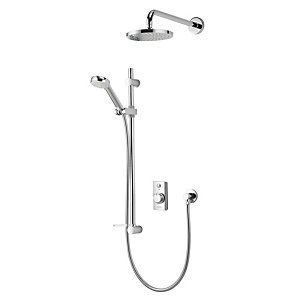 Aqualisa Quartz Digital Divert Qzd.A1.Bv.Dvfw.14 Digital Shower Concealed with Adjustable and Fixed Wall Heads Hp/Combi