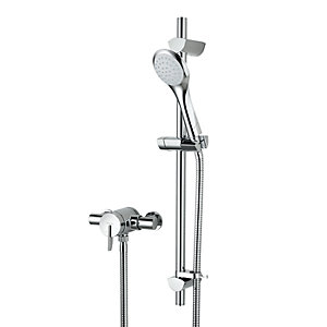 Bristan Thermostatic Mixer Shower with Adjustable Riser Kit SOQ2SHXARC