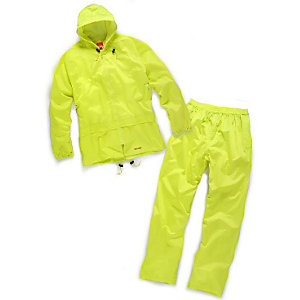 Scruffs Worker Waterproof Rain Suit Yellow Extra Large