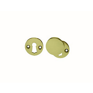 4Trade Open & Covered Escutcheon Brass 33mm Pack of 2