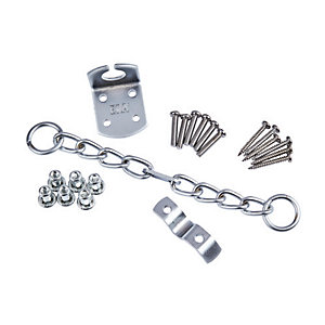 4Trade Security Door Chain Satin Nickel