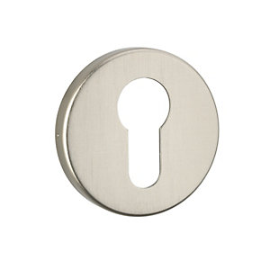Urfic Euro Lock Escutcheon Brushed Aluminium