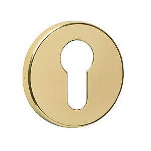 Urfic Euro Profile Escutcheon Polished Brass
