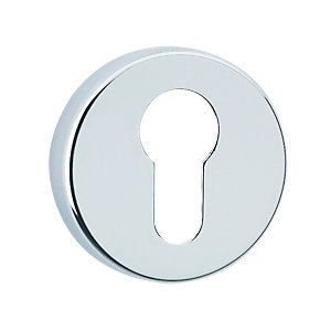 Urfic Euro Profile Round Escutcheon Chrome
