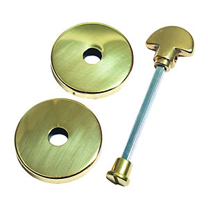 Urfic Polished Escutcheon Bathroom Handle Brass