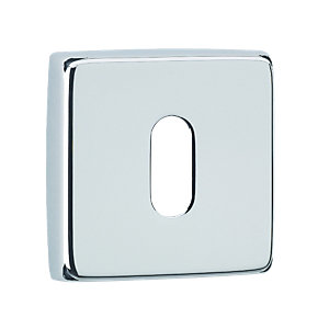 Urfic Standard Square Key Escutcheon Chrome