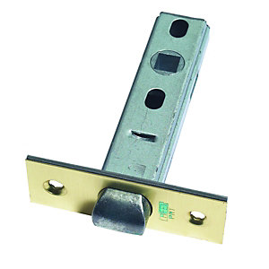 Urfic Tubular Latch Brass Plated 75mm