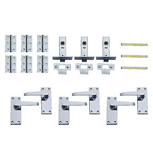 4TRADE Victorian Latches, Hinges and Levers - Chrome