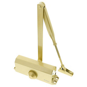 Briton 121CE.GES Overhead Door Closer Gold, Size 3