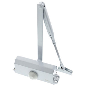 Briton 121CE.SES Overhead Door Closer Silver, Size 3