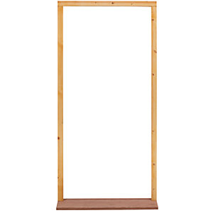External softwood door frame to suit 2'8x6'6 door. With hardwood sill, inward opening. (FN28M)