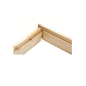Rebated Door Casing Set Sawfalling Redwood 38mm x 100mm x 2'9in