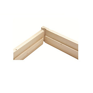 Whitewood Door Lining Set Includes Stops 32mm x 138mm