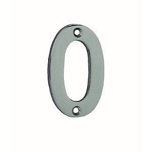 4Trade Door Number 0 Chrome Plated 75mm