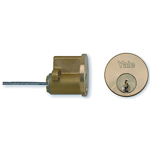 Yale 2 Keyed Cylinder Polished Brass