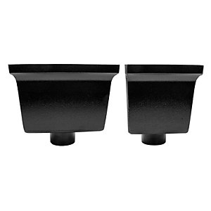 Alutec Flush-fit 76mm Hopper Heritage Black