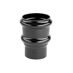 Alutec Tudor 63mm Pipe Socket Non Eared Heritage Black